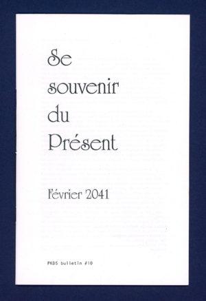 PKDS #10 - Se souvenir du présent - couverture