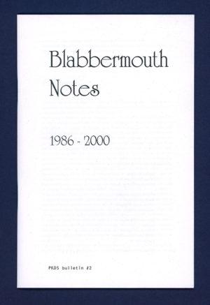 PKDS #2 - Blabbermouth notes - couverture